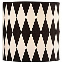 Black/White Drum Lamp Shade with Uno Assembly