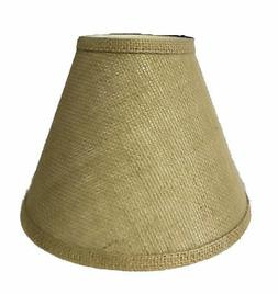 "BURLAP 9"" LAMP SHADE WITH STANDARDA CLIP-ON  BURLAP-09"