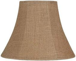 Natural Burlap Medium Bell Lamp Shade 7x14x11