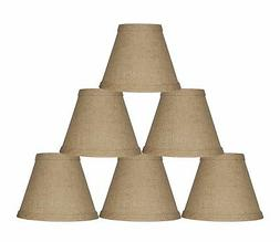 Urbanest Burlap Chandelier Mini Lamp Shades Hardback, Set of