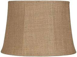 Natural Burlap Large Drum Lamp Shade 13x16x11