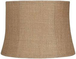 Natural Burlap Medium Drum Lamp Shade 12x14x10