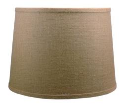 Urbanest French Drum Burlap Lampshade, 14-inch by 16-inch by