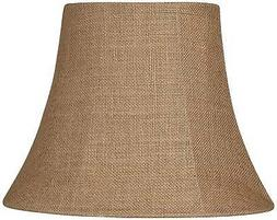Natural Burlap Small Oval Lamp Shade 6/8x11/14x11