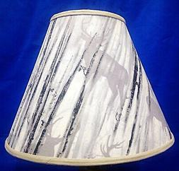 Camouflage Deer Shadow on Grey Lampshade Handmade Lamp Shade