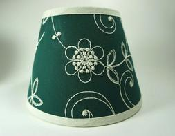 Waverly Candlewicking Candlewick Classic Green Fabric Lampsh