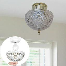 Evelots Ceiling Clip-on Light Bulb Shade-Lamp-Dome-Antique-D