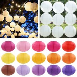 Chinese Round Paper Lanterns Lamp Birthday Wedding Party Dec