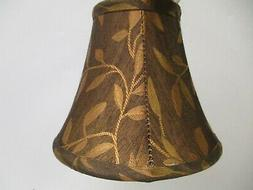 "Clip On Chandelier lamp Shade 3""x6""x5"" -  Brown Copper w/"