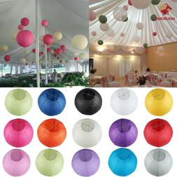 "Colorful ""8"" 10"" 12""  Round Paper Lanterns Lamp Wedding Birt"