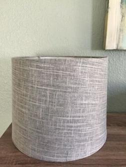 Contemporary Gray, White Textured Lamp Shade V Good Conditio