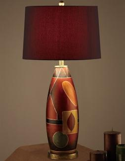 Contemporary mosaic oval shaped table lamp By Poundex