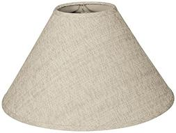 Royal Designs Coolie Empire Hardback Lamp Shade, Linen Cream