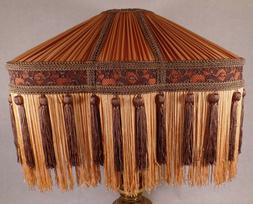copper and brown deco style pleated polyester