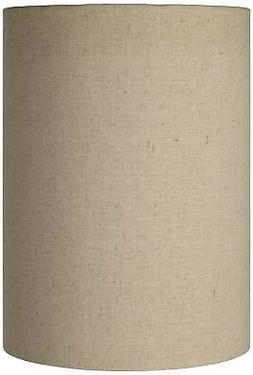 Cotton Blend Tan Cylinder Shade 8x8x11