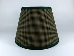 Country Primitive Green Mini Check Homespun Fabric Lampshade