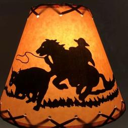Cowboy & Horse Table Light Cabin Cottage LAMP SHADE Clip-On