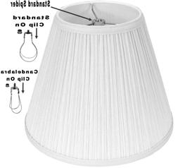 Cream or White Mushroom Pleated Lamp Shade USA Made - 3 Fitt