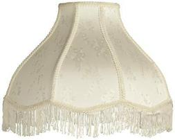 Cream Scallop Dome Lamp Shade 6x17x12x11
