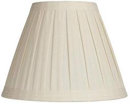 Creme Linen Box Pleat Lamp Shade 7x14x11