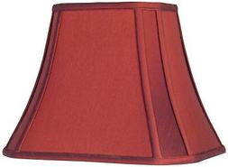 Crimson Red Cut-Corner Lamp Shade 68x1114x11