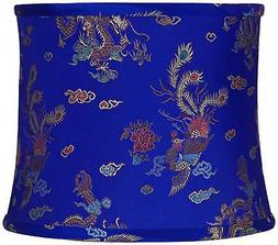dark blue empire peacock drum lamp shade