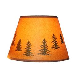 Decorative Stylish Paper Lamp Shade - Pine Trees Theme - Ide
