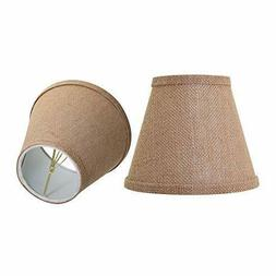 Burlap Accent Lamp Shade Modern Lighting Uno Fitte Living Be