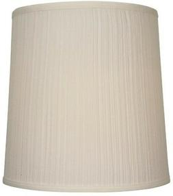 Drum Lamp Shade Natural Fabric Transitional Beige Large 14 x