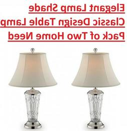 Elegant Lamp Shade Classic Design Table Lamp Pack of Two Hom
