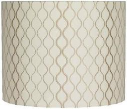 Embroidered Hourglass Lamp Shade 14x14x11