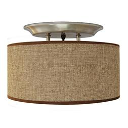 Dream Lighting 12V Fabric Light Fixture with Brown Burlap El