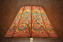 Large Floor Lamp Shade in Multi Colour Floral Pattern | Hand
