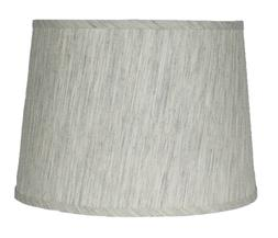 Urbanest French Drum Lampshade,Textured Flax Linen, 12-inch,