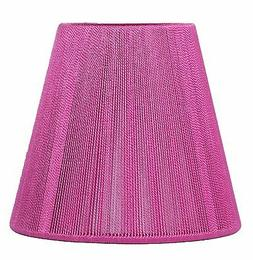Urbanest Fuchsia  String Mini Chandelier Lamp Shade, 5-inch,