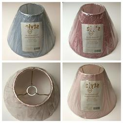 """STYLE 046 gingham 7.5"""" LAMP SHADE slip UNO fitter **CHOOSE p"""