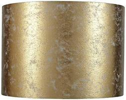 Gold Metallic Paper Drum Lamp Shade 14x14x10