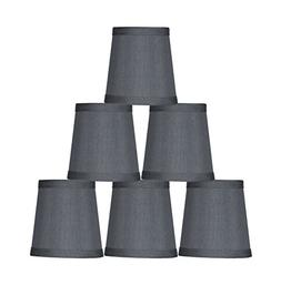 "Urbanest Gray Mini Chandelier Lamp Shade, 3x4x4"", Hardback,"