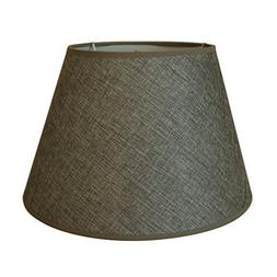 CVHOMEDECO. Grey Burlap Lamp Shade for Home Vintage Rustic P
