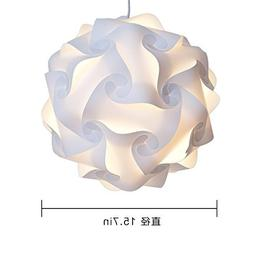 Home Furnishing Puzzle Lamp Shade DIY Pendant Fixture Home D