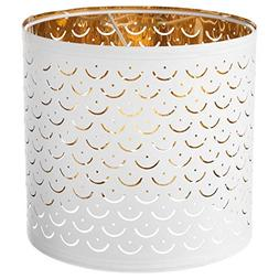 IKEA 103.772.00 Nymö Lamp Shade, White, Brass Color
