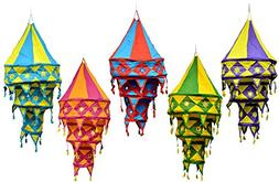 Amazing India 25pcs Indian Ethnic Hanging Lamp shade Patchwo