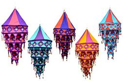 Amazing India 25pcs Indian Ethnic Hanging Lamp shade Mirror