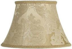 ivory brocade lamp shade 10x17x11 spider