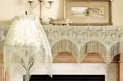Ivory Heritage Lace Gala 3 in 1 Window Valance Mantel or Lam