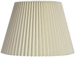 Ivory Linen Knife Pleat Lamp Shade 9x14.5x10