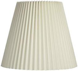 Ivory Pleated Shade 10x17x14.75