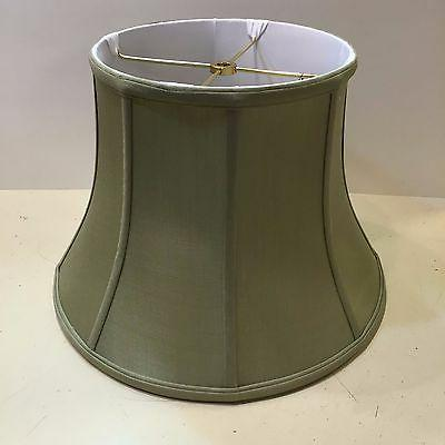 12 celedon green silk lampshade modified bell
