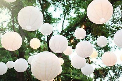 12pc White Round Paper Lantern Wedding Lamp Shade Grad Party
