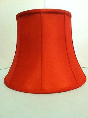 """12""""Red Silk Bell Shape Lamp Shade Spider NEW"""